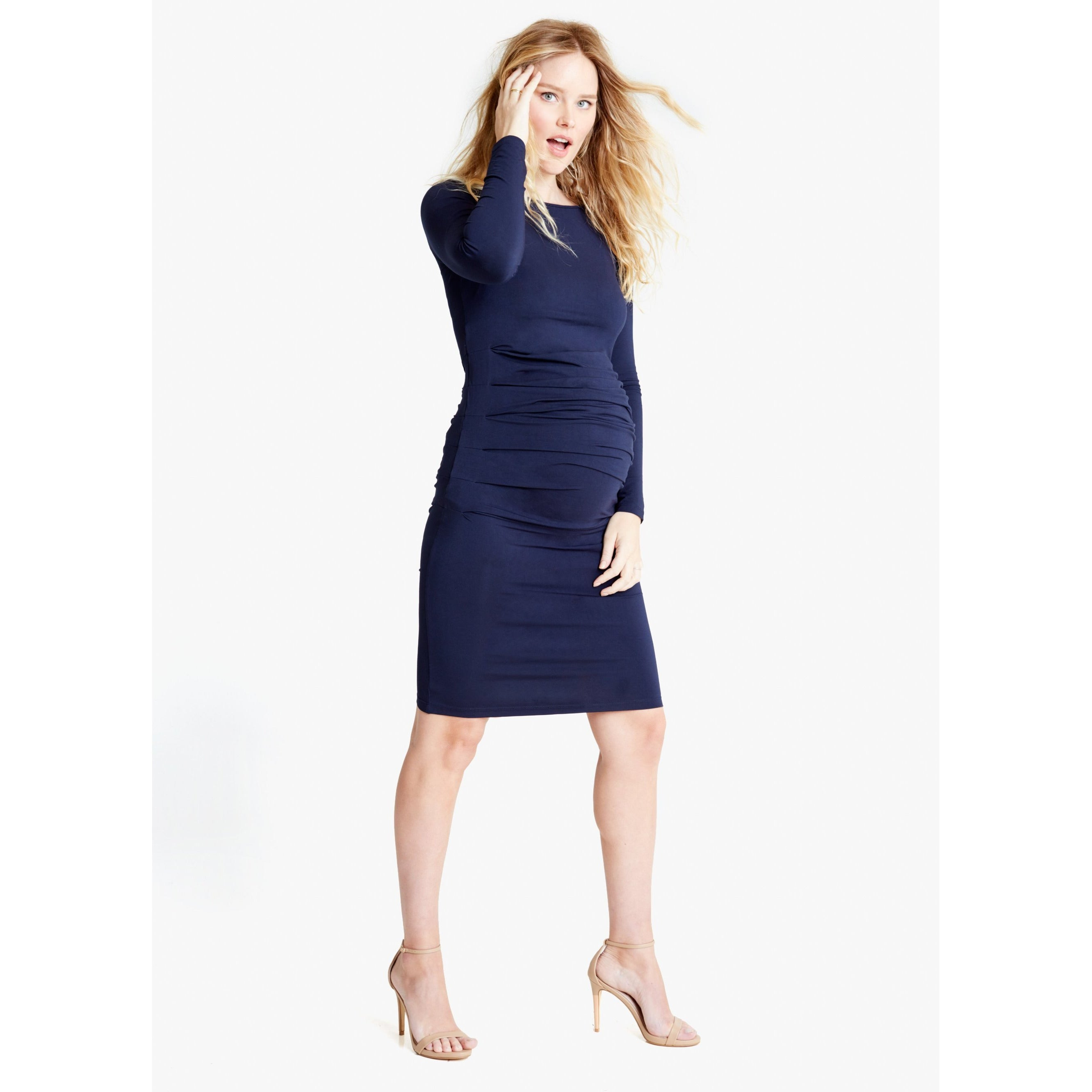Ingrid and Isabel Loren Dress in Navy