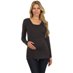 Juliet Side Shirred Tee by BellyMoms Maternity