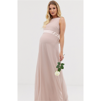 The Elise: Satin Bow Back Maxi