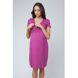 Ripe Ballet Wrap Short Sleeve Nursing Dress