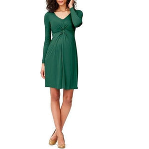 Leota Hunter Crepe Maternity Dress