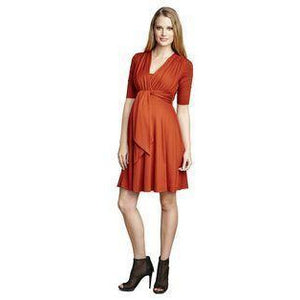 Maternal America Mini Tie Front Dress