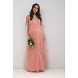 The Asha: Sleeveless Maxi with Lace and Tulle