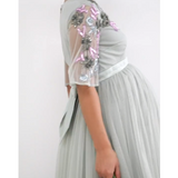 The Lily: Embellished Sleeves & Tulle Skirt