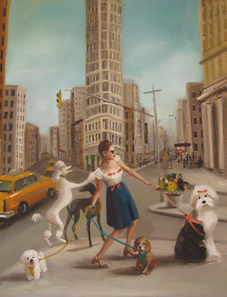 Lucy In New York. Art Print from the novel Lucy Crisp and the Vanishing House