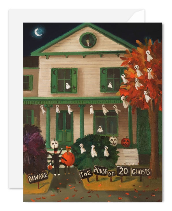The House of Twenty Ghosts. Hallowen Card. SKU JH1192