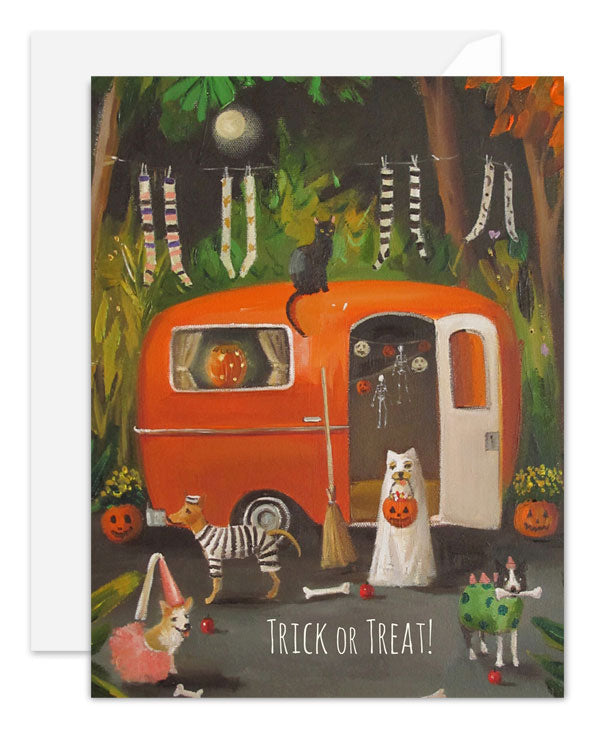 The Dogs of Halloween Card