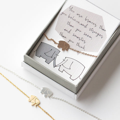 Studio Hop motivational elephant bracelet