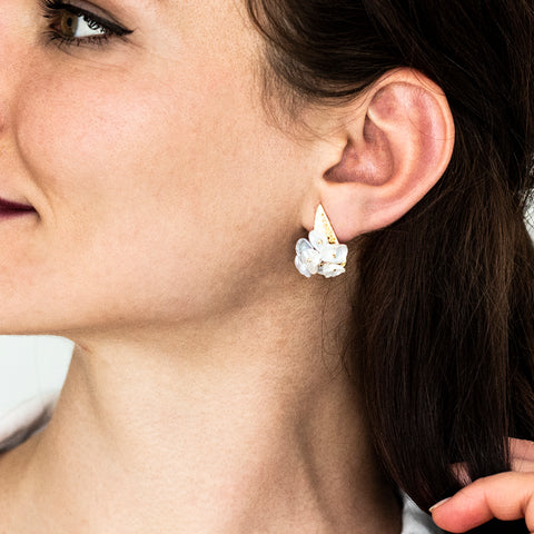 studio hop keshi pearl cluster earrings
