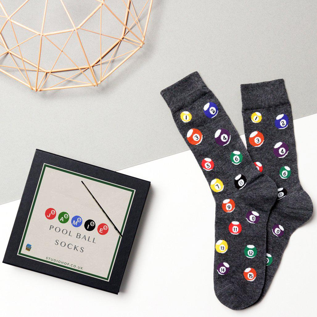 Personalised Mens Pool Ball Socks