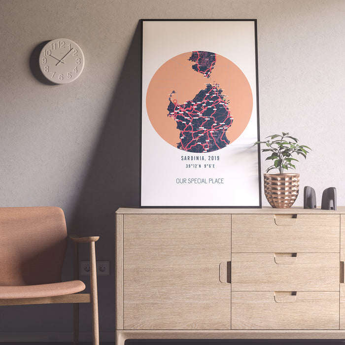 'Where We Belong' Location Map Print