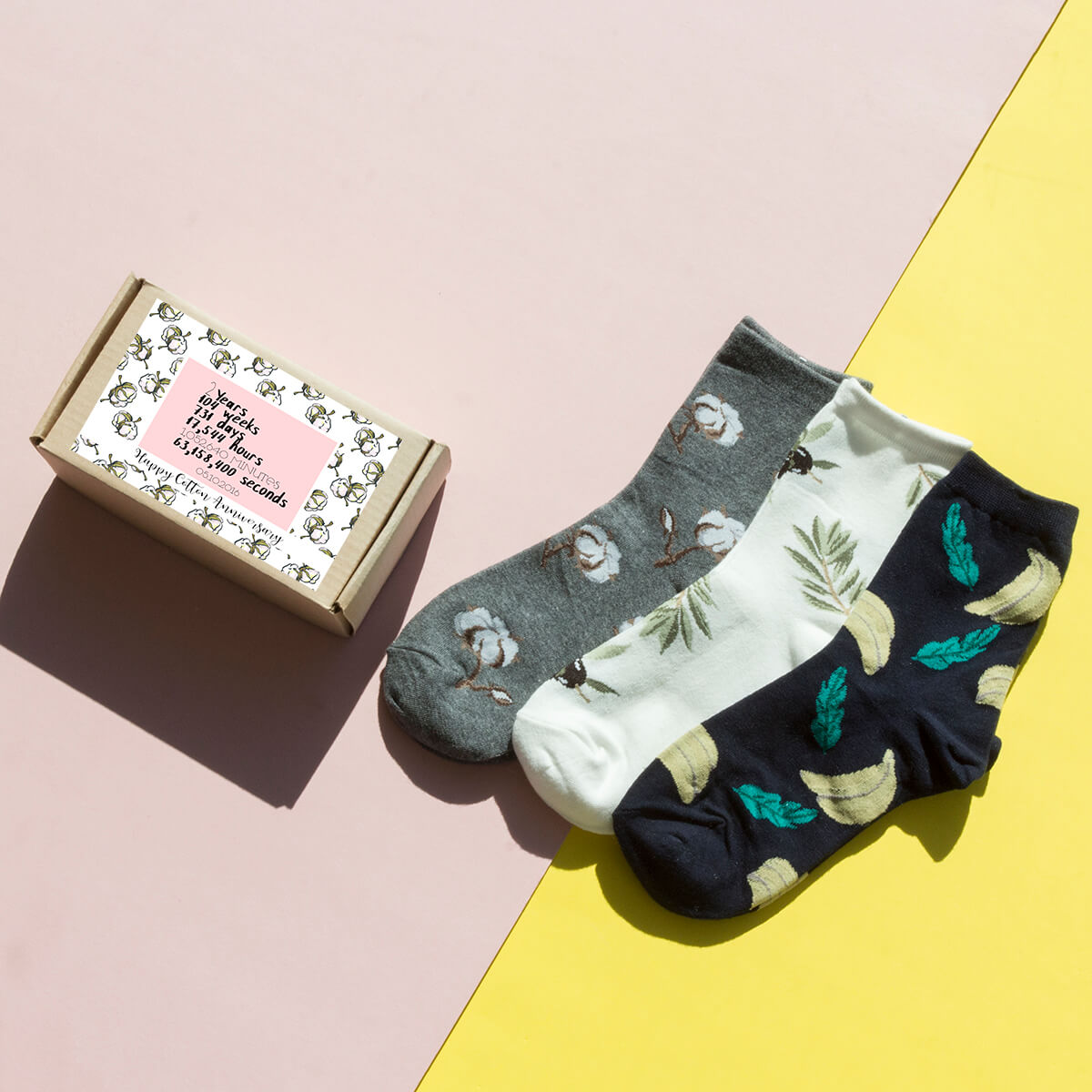 Personalised Plants Sock Box