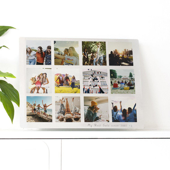 Personalised Best Friends Memories Photo Plate