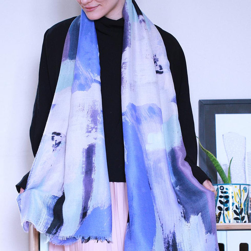 Personalised Abstract Forest Scarf