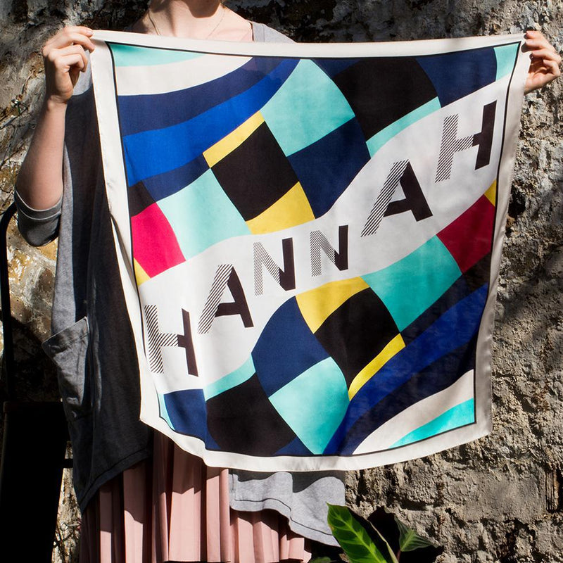 Personalised Name 'Hannah' Silky Scarf