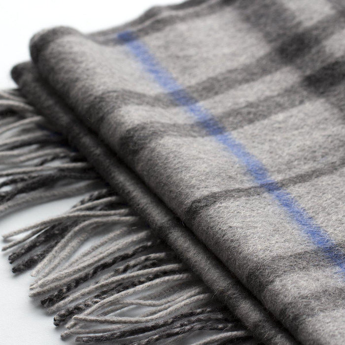 Men's Personalised 100% Cashmere Check Scarf