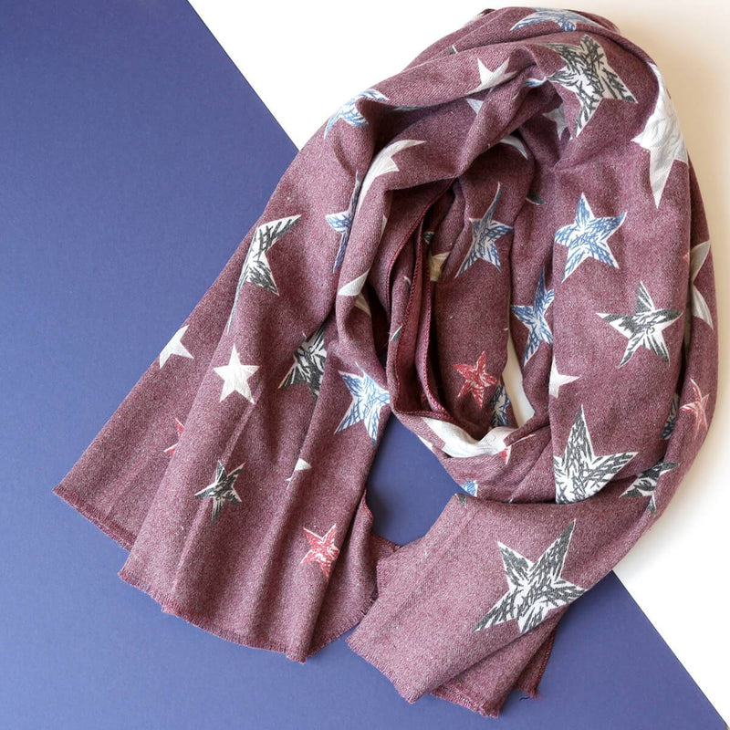 Personalised Cashmere Stars Filled With Joy Scarf