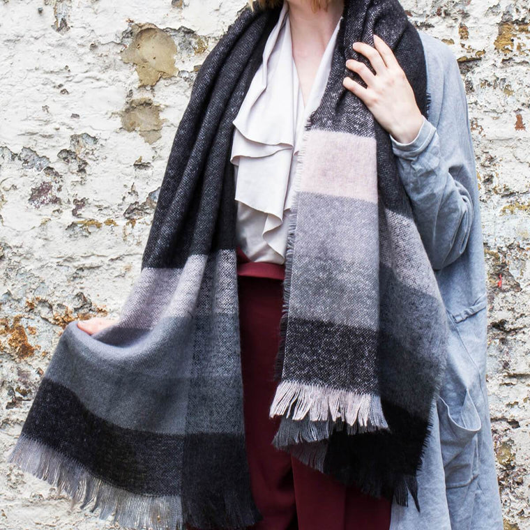 Chunky Stripe Winter Scarf