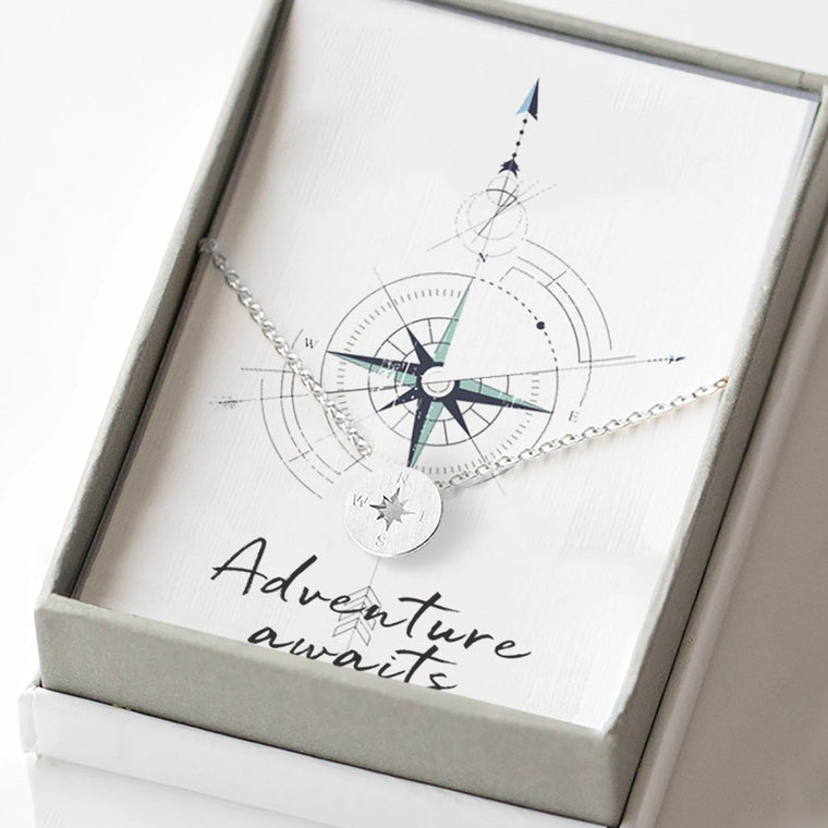Find Your Way Compass Necklace