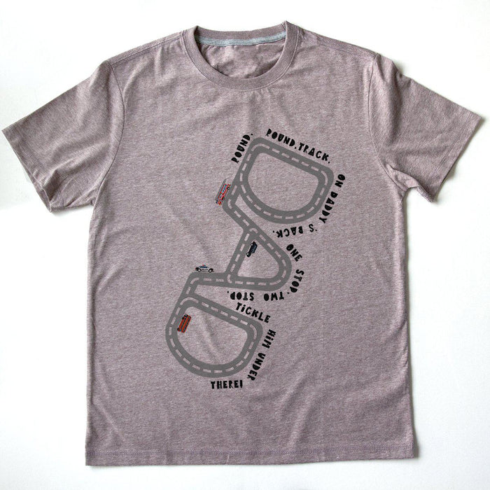 Drive on Daddy Personalised Track T-shirt-Shirt-Studio Hop-Plum-Studio Hop