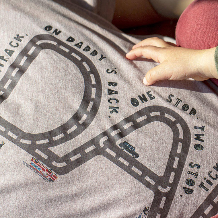 Drive on Daddy Personalised Track T-shirt