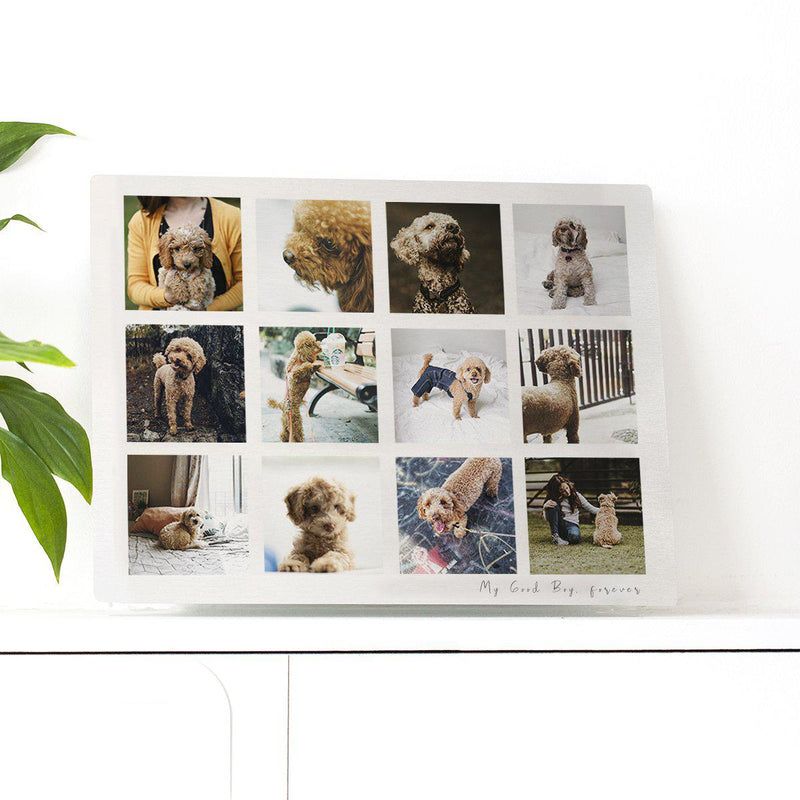 Personalised Man's Best Friend Memories Photo Plate