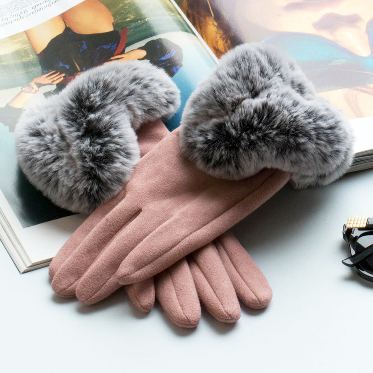 fluffy-cuff-suede-effect-gloves