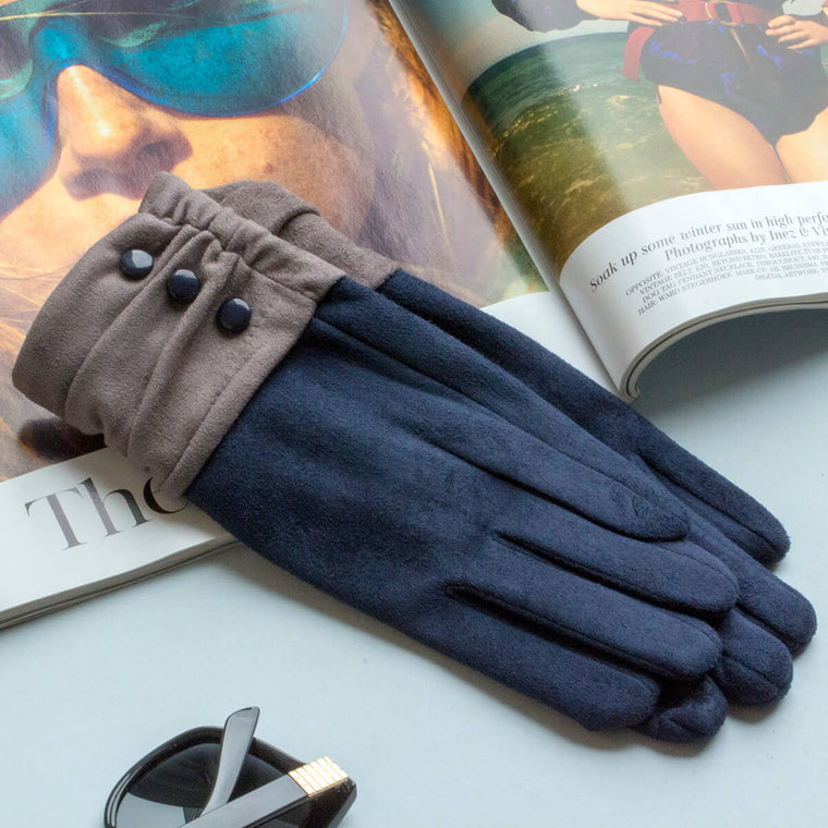 gathered-cuff-suede-effect-gloves