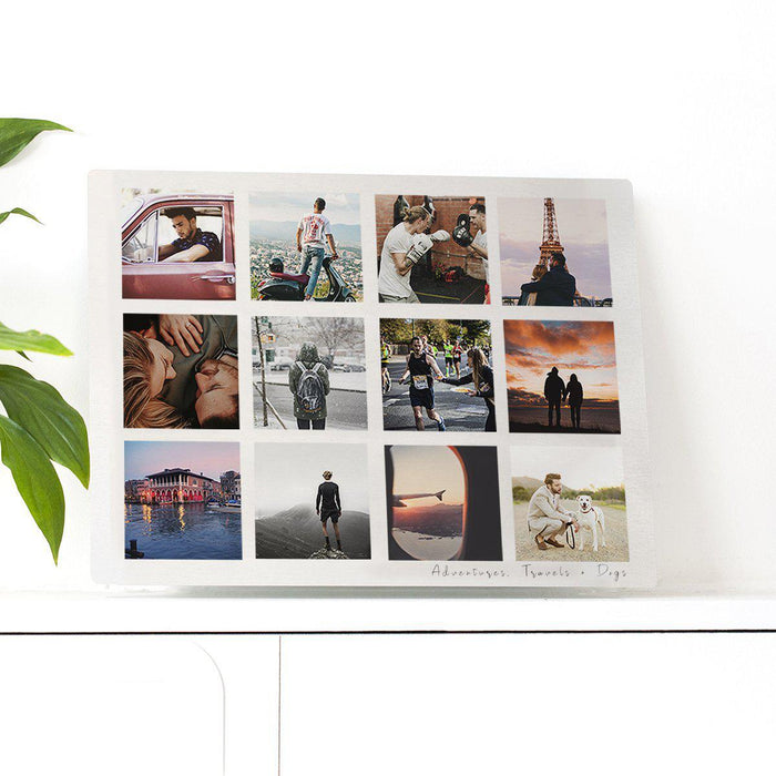 Personalised 'For Him' Memories Photo Plate