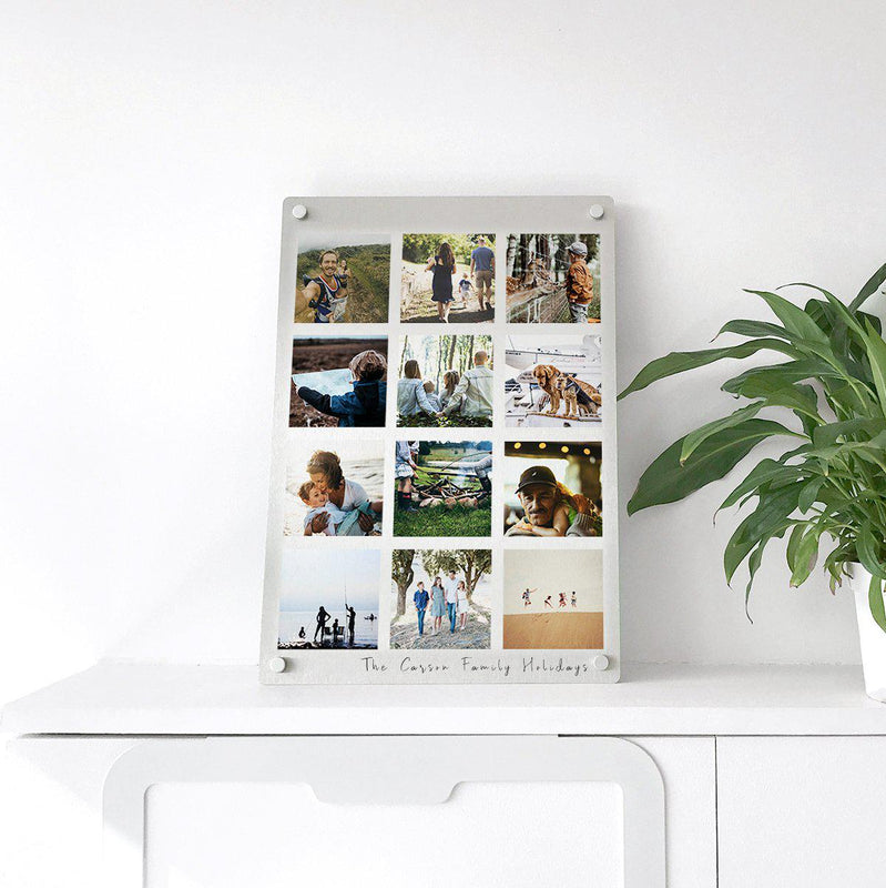 Personalised Family Holiday Memories Photo Plate