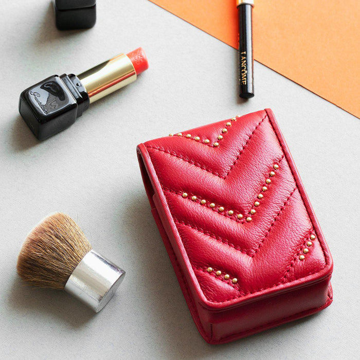 Personalised Leather Travel Makeup Pouch
