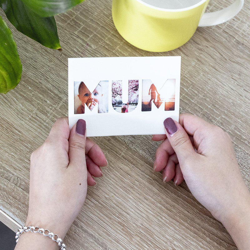 Keepsake Letter Cutout Photo Card