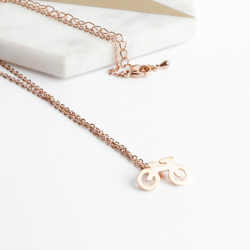 Little Bicycle Necklace