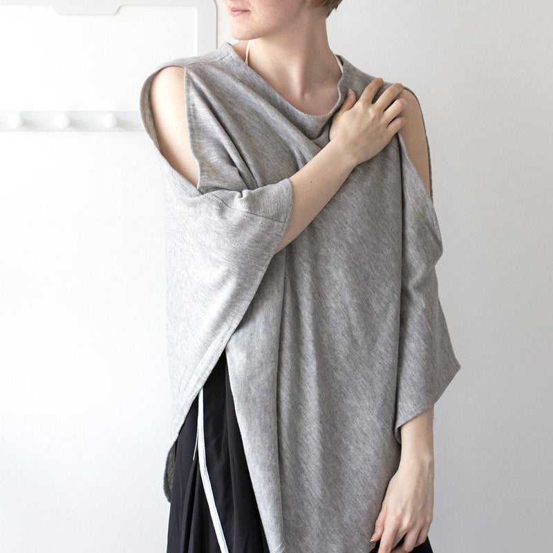 Personalised Open Shoulder Knit Poncho