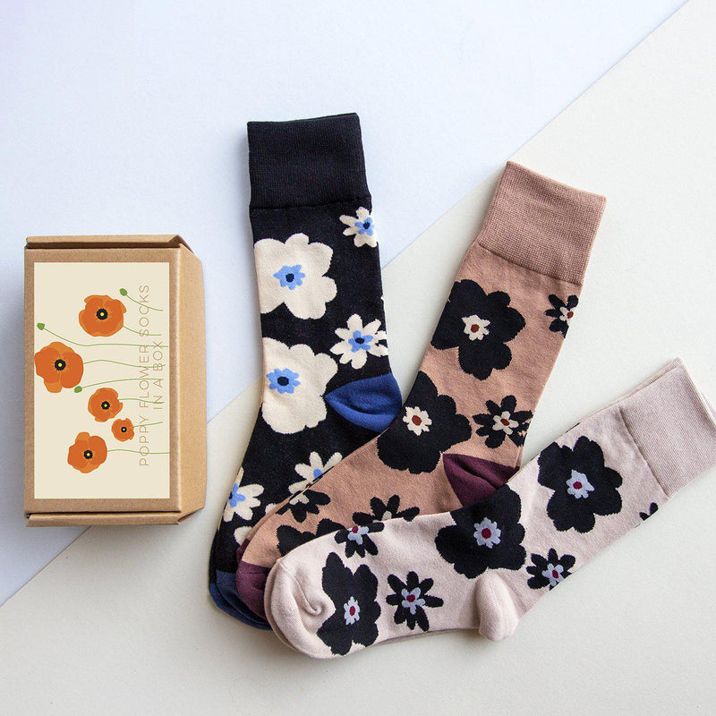 Anemone Floral Socks in a Box-Socks-Studio Hop-Studio Hop