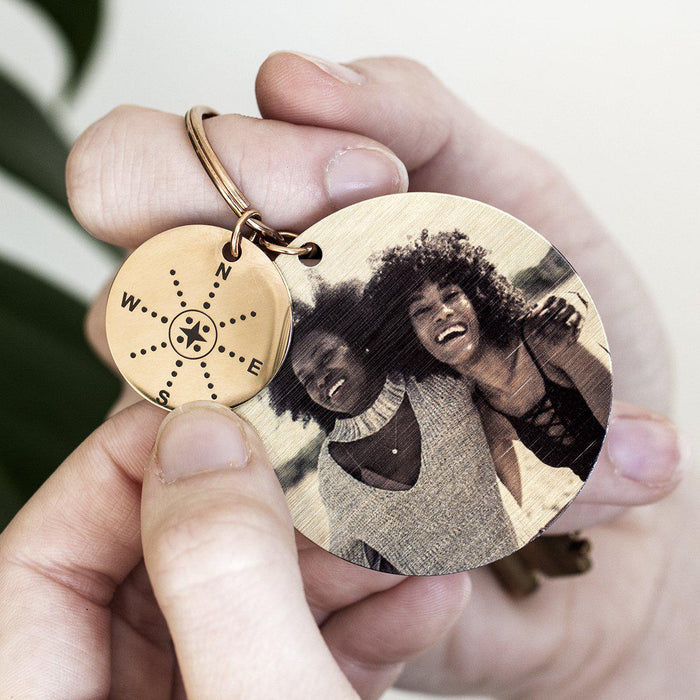 together-in-heart-sisters-compass-keyring