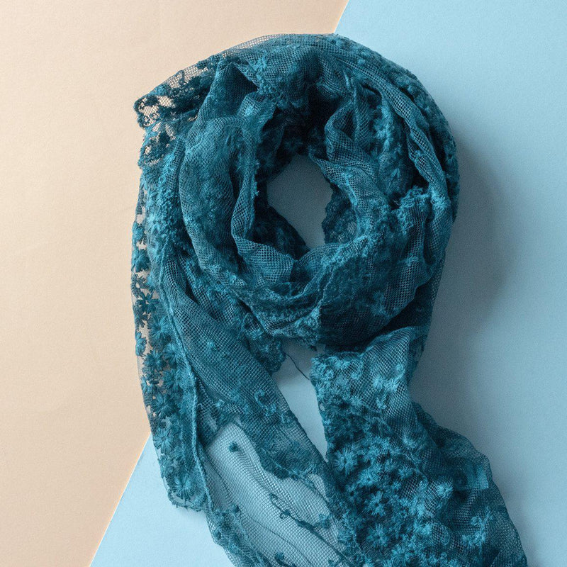 floral-denim-lace-slim-scarf