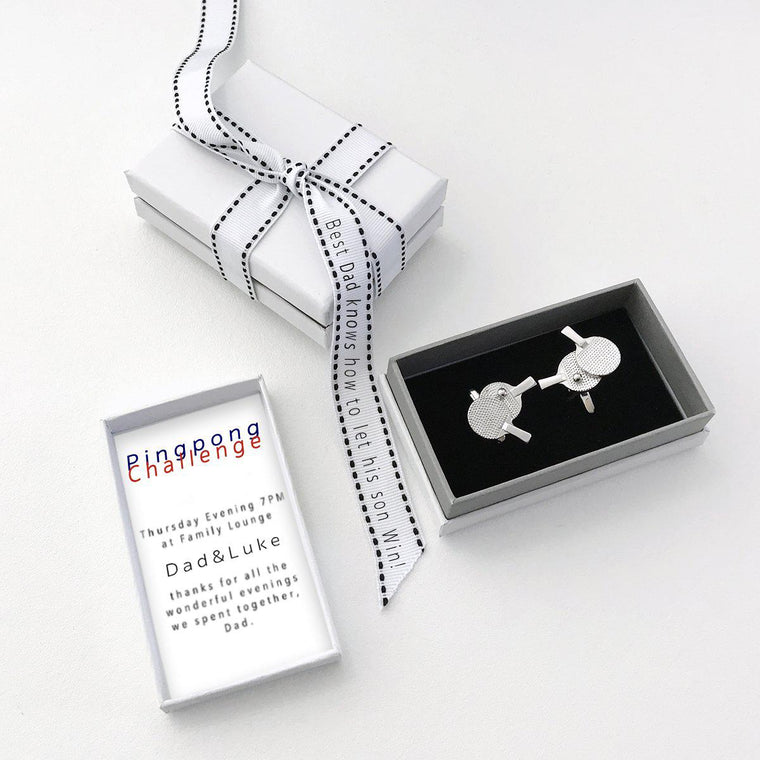 Playful Ping Pong Cufflinks