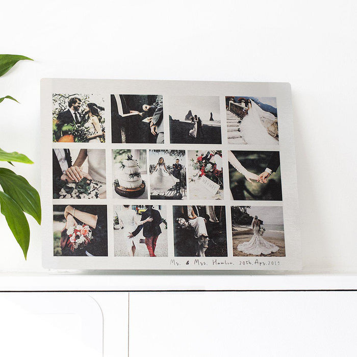 Personalised Our Wedding Enduring Memories Photo Plate