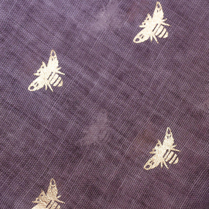 """Bee Happy"" Gold Foil Scarf Letterbox Gift-Scarf-Studio Hop-Plum-Studio Hop"