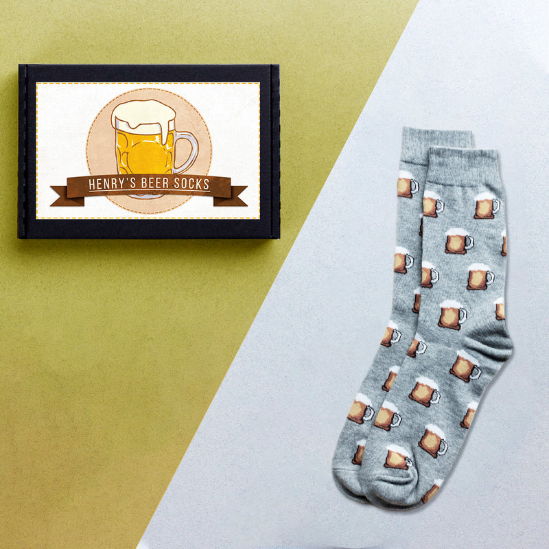 Personalised Men's Beer Socks