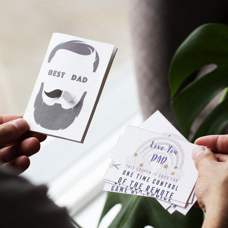 World's Best Dad Card and Coupon Gift