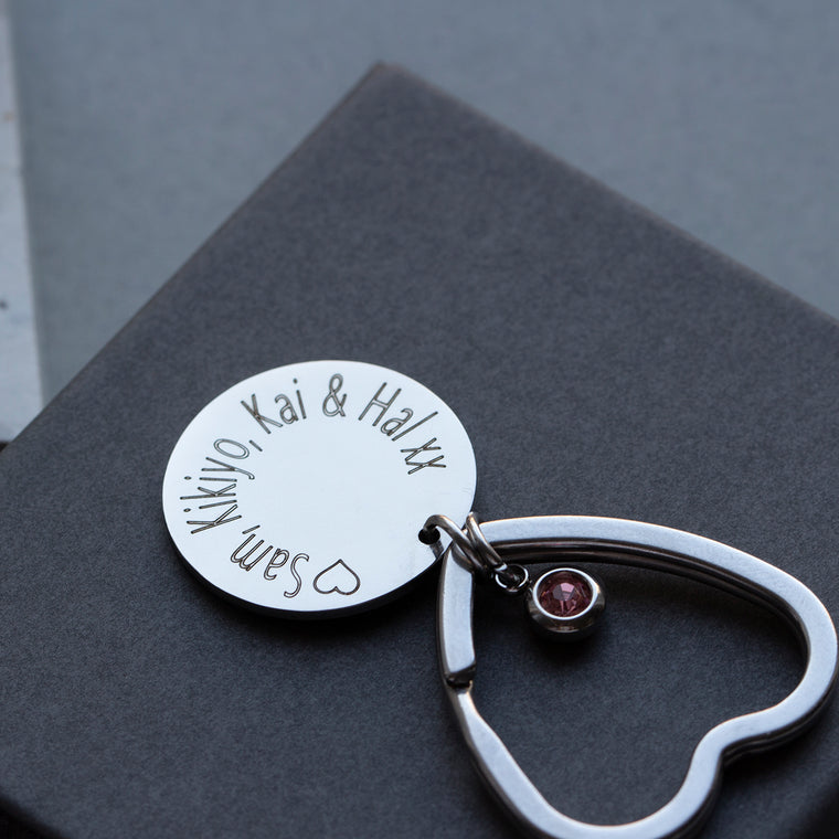 Personalised Birth Flower Keyring