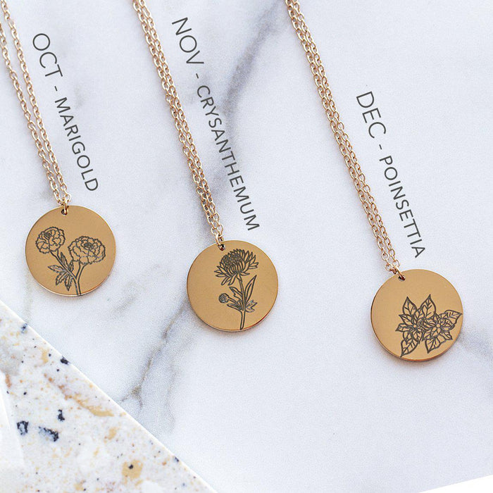 Delicate Birth Flower Necklace