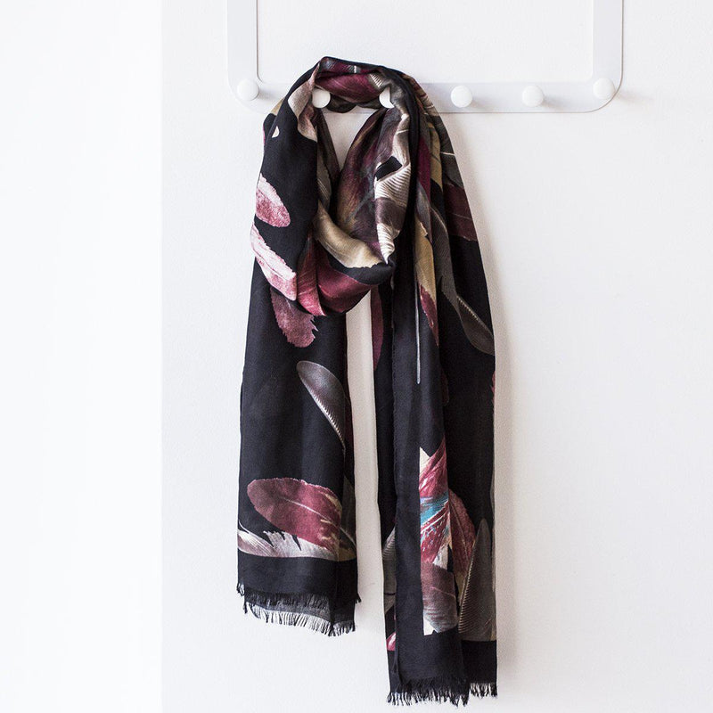 Personalised Feathers Print Scarf