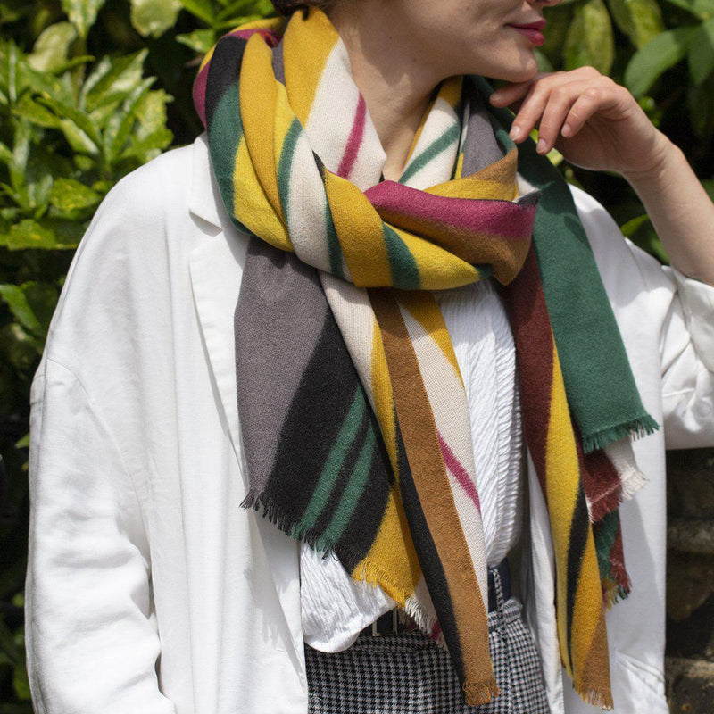 personalised-colourblock-stripes-gauze-scarf