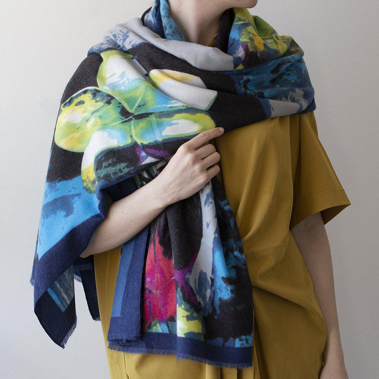 Personalised Vibrant Florals Scarf