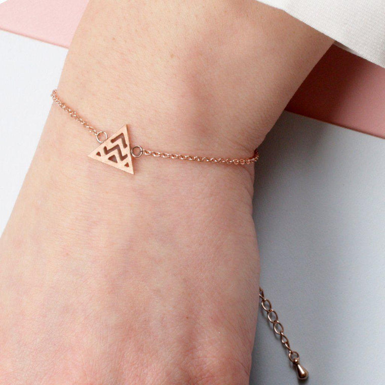 Geometric Mountain Bracelet