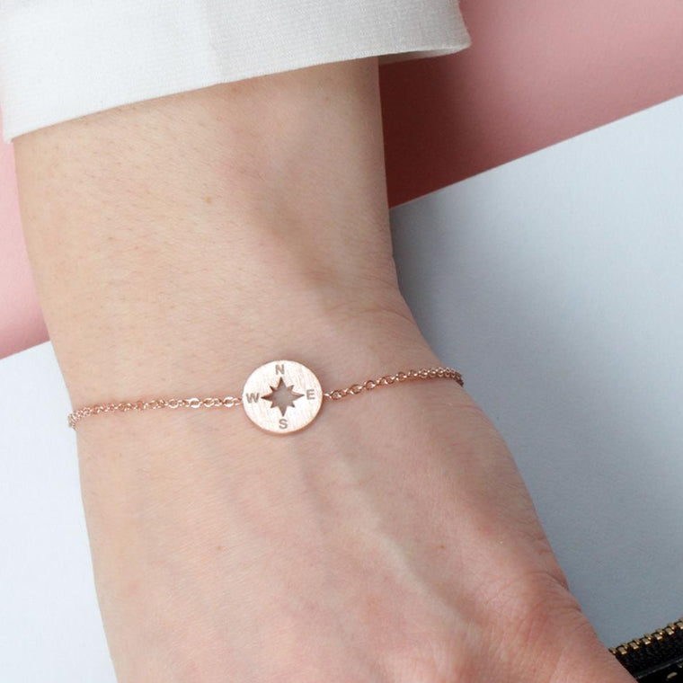 NSWE Compass Rose Gold Bracelet