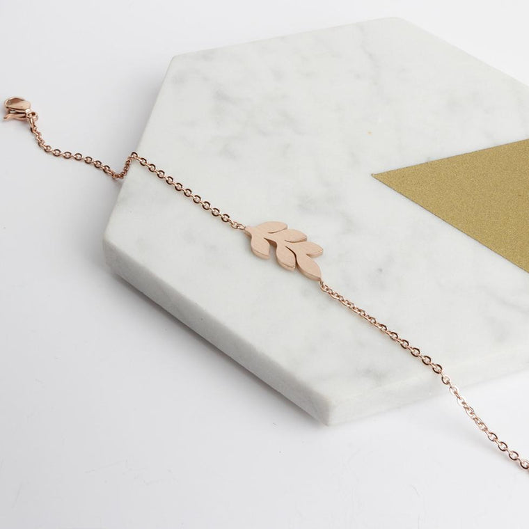 Bracelet - Rose Gold Leaf Bracelet